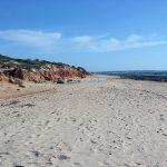 Fantástica playa para la práctica del Wind-Surf, sobre todo cerca del puerto pesquero, donde se forman espectaculares corrientes de viento entre esta playa y la del Castillo.
