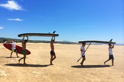 You can practise lots of water sports in Tarifa, such as surfing.