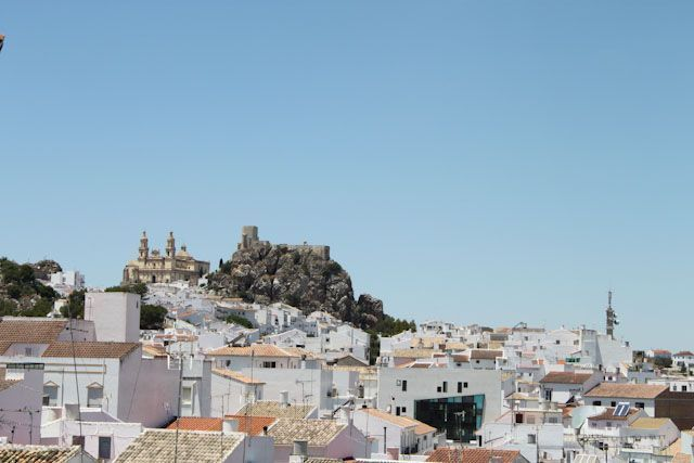 The castle of Olvera overlooks the town from above.
