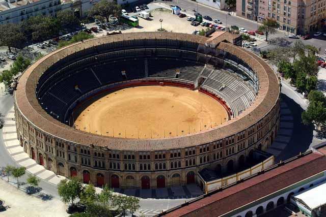 This is El Puerto bull ring.