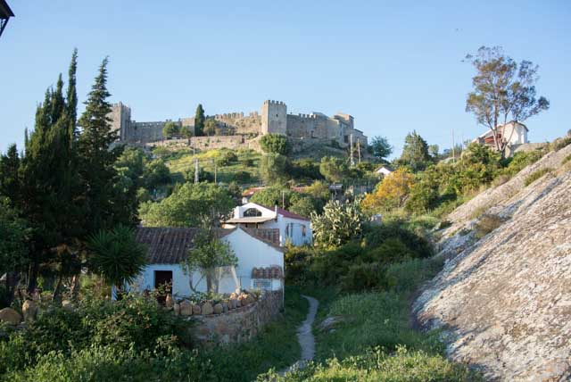 The Castle of Castellar is surrounded by vegetation.